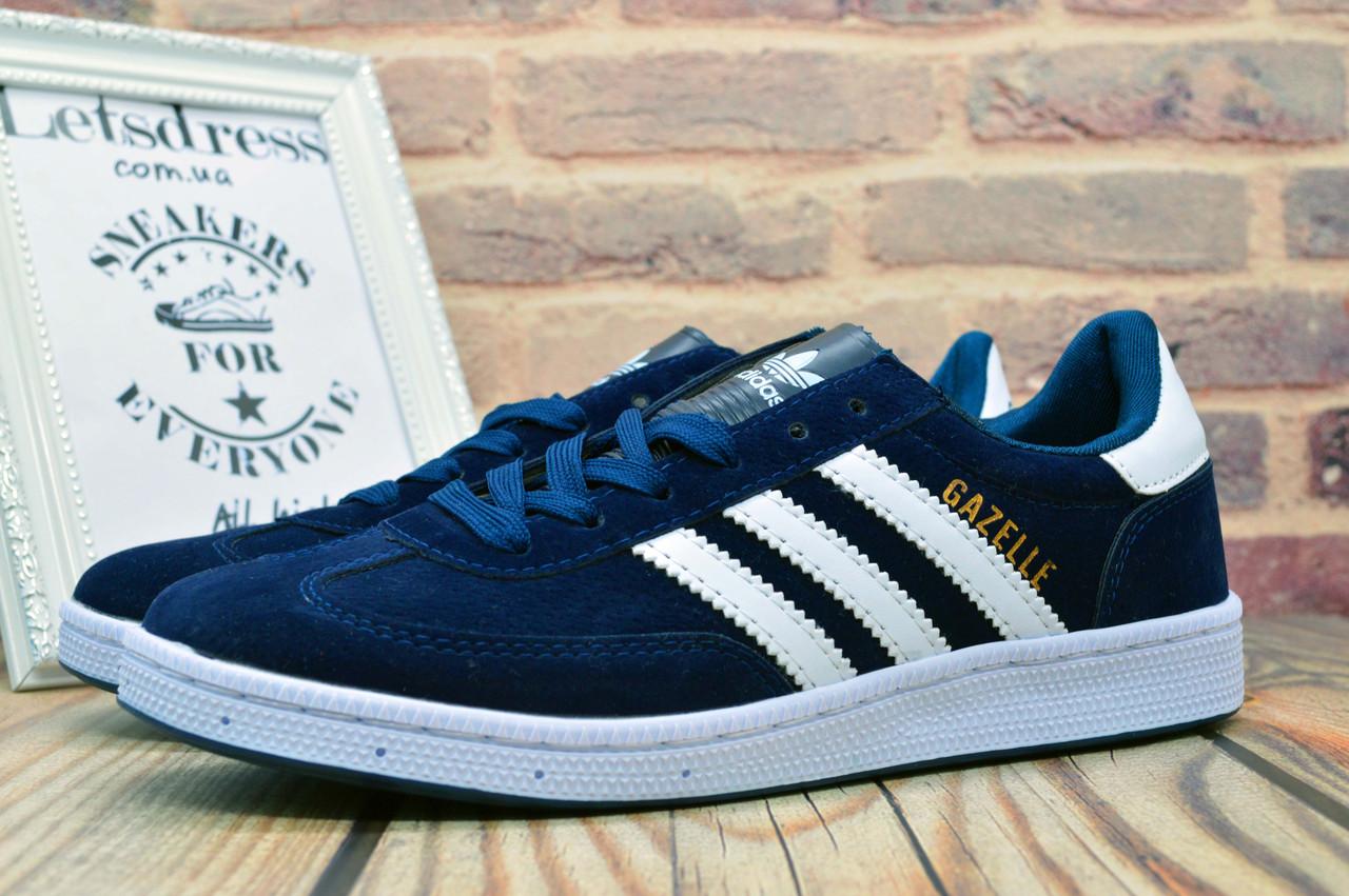 Кроссовки мужские Adidas Gazelle Blue | Адидас Газель кеды мужские синие