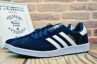 Кроссовки мужские Adidas Gazelle Blue | Адидас Газель кеды мужские синие, фото 1