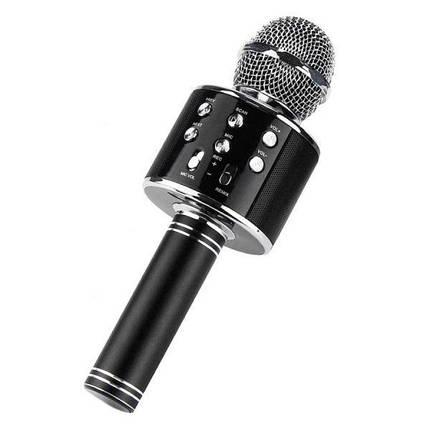 Беспроводной микрофон-колонка караоке с динамиком UTM WS858 Black, фото 2