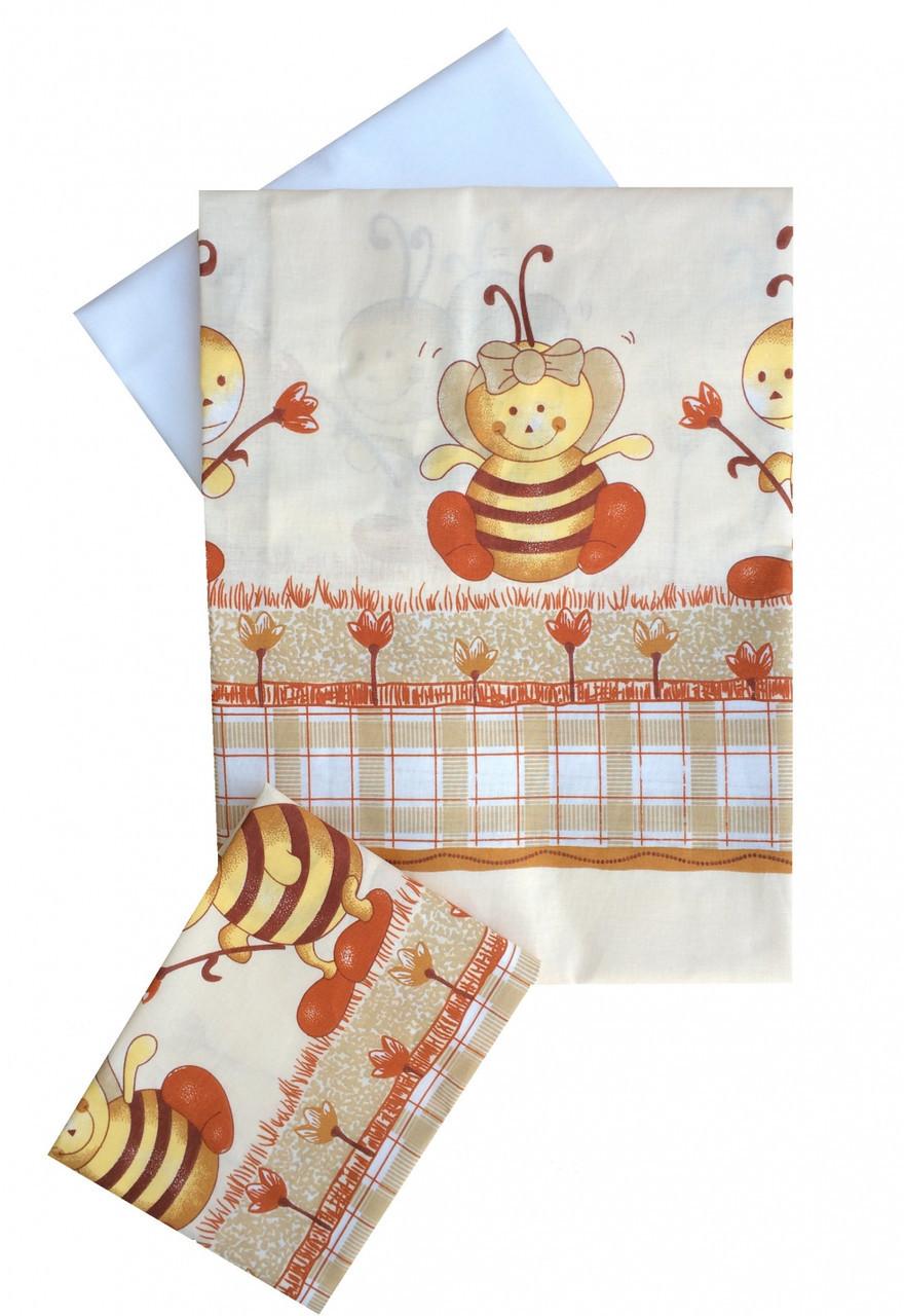 Сменная постель Twins Comfort C-031 пчелки (пододеяльник,наволочка,простыня)
