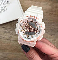 Мужские спортивные часы, чоловічий спортивний годинник Casio G-Shock GA-110, касио джи шок белые