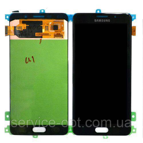 Дисплей Samsung A710 Galaxy A7 (2016) TFT регулируемая подсветка + сенсор чёрный