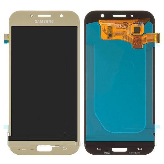 Дисплей Samsung A720 Galaxy A7 (2017) OLED + сенсор золотистый
