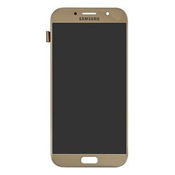 Дисплей Samsung A720 Galaxy A7 (2017) TFT регулируемая подсветка + сенсор золотой
