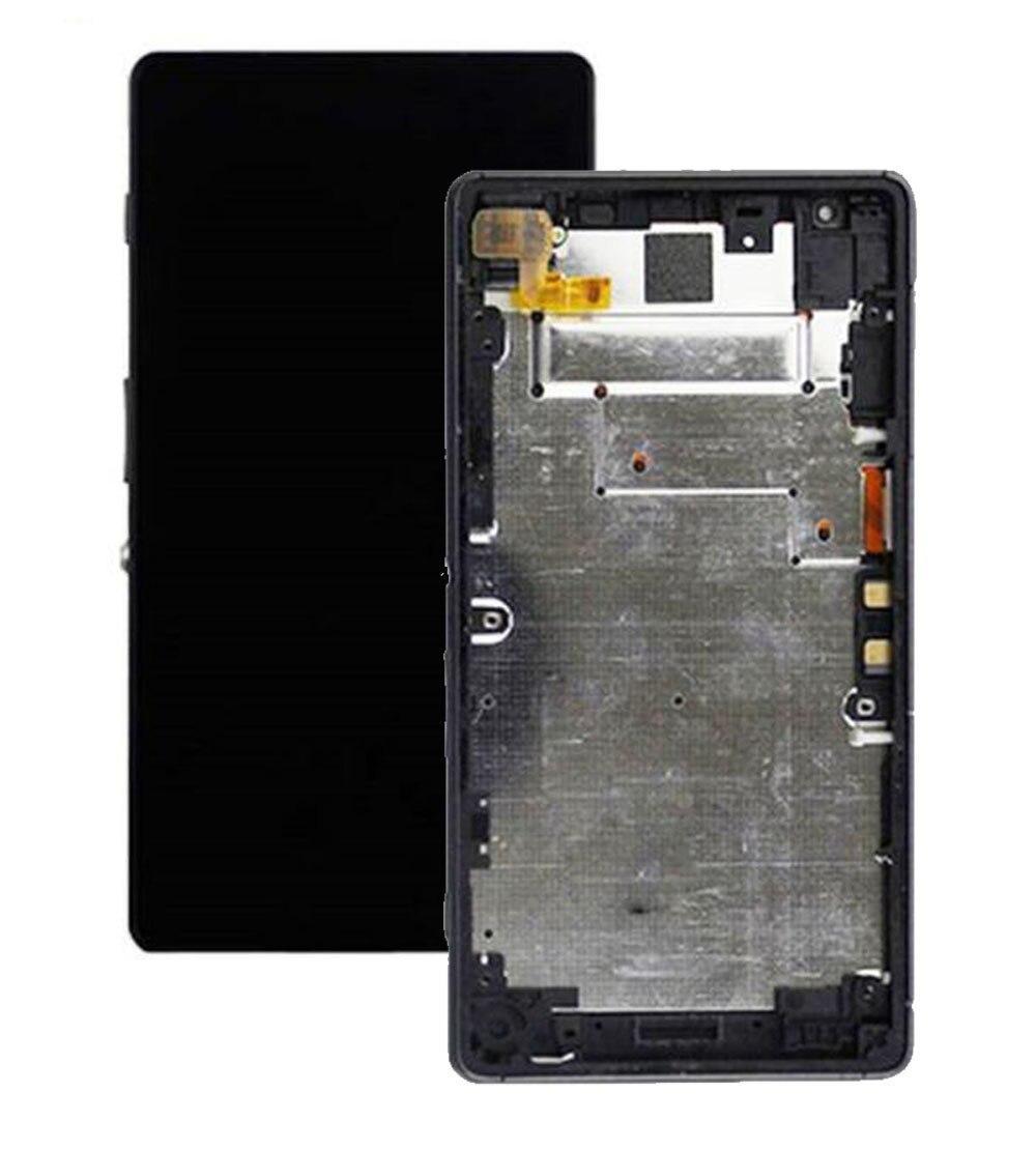 Дисплей Sony D6563 Xperia Z2a + сенсор чёрный + рамка