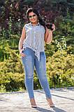 Стильные женские стрейчевые тертые джинсы  БАТАЛ  31-34р., фото 6
