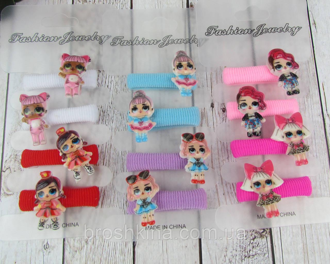 Набор детских резиночек для волос куколки LOL 6 набор/уп