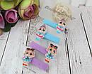 Набор детских резиночек для волос куколки LOL 6 набор/уп, фото 2