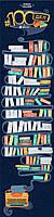 Скретч постер, 100 дел books edition, 100 Дел, это, 100 книг которые стоит прочитать!  100 Дел, Book edition,