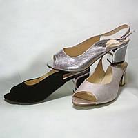 Женские кожаные босоножки на каблуке. Grodecki. Польша