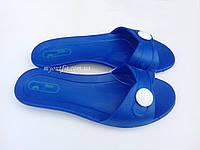Женские сланцы Синие Тапочки Шлёпанцы Размер 36