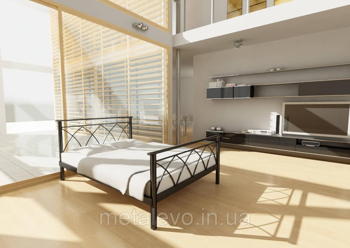 Двуспальная металлическая кровать с изножьем ДИАНА -2 (DIANA -2) 140х200