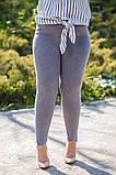 Стильные женские серые стрейчевые джинсы  БАТАЛ  28-31р., фото 3