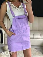 Женский модный джинсовый сарафан  ЛК, фото 1
