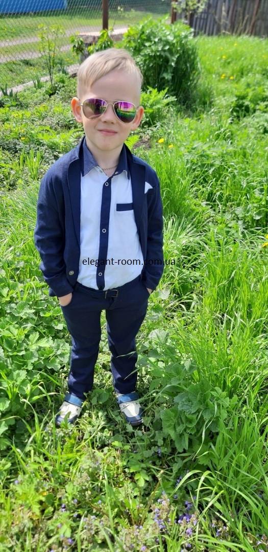 Костюм стильный для мальчика в садик, в школу на выпускной:брюки+пиджак+рубашка лен.