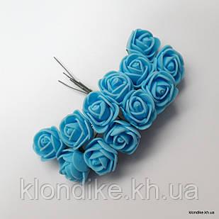 Букет искусственных роз, Цвет: Голубой