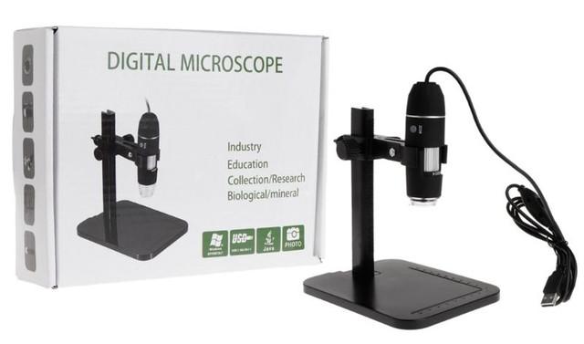 Цифровой USB микроскоп 1600Х на штативе