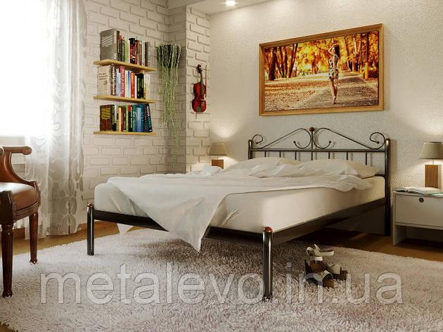Двуспальная металлическая кровать РОЗАНА -1(ROSANA-1) 180х200, фото 2