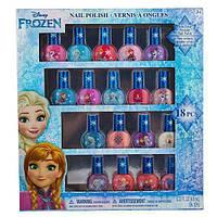 Детская косметика лак для ногтей Холодное сердце 18 штук Frozen Non-Toxic 18 Piece Peel Off Nail Polish Set