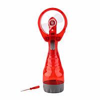 🔝 Ручной вентилятор, Water Spray Fan, с пульверизатором, цвет - красный | 🎁%🚚