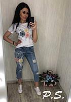 Женский джинсовый костюм  ЛК, фото 1