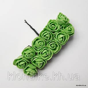 Букет искусственных роз, Цвет: Зеленый