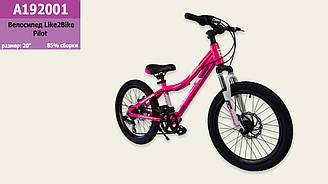 Велосипед 2-х колісний гірський (горный) 20'' A192001 (1шт) диск. гальма, підніжка, в кор.