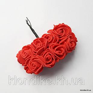 Букет искусственных роз, Цвет: Красный