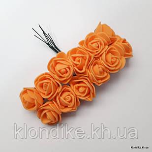 Букет искусственных роз, Цвет: Оранжевый