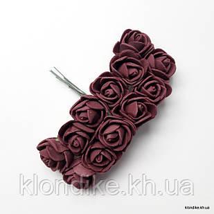 Букет искусственных роз, Цвет: Пурпурный