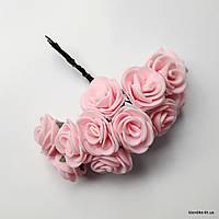 Букет искусственных роз, Цвет: Розовый