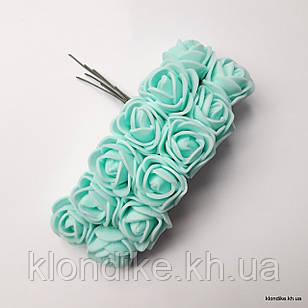 Букет искусственных роз, Цвет: Светло-бирюзовый
