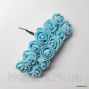 Букет искусственных роз, Цвет: Светло-голубой