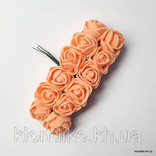 Букет искусственных роз, Цвет: Светло-оранжевый