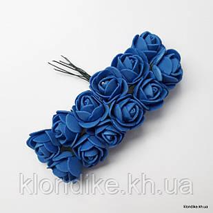 Букет искусственных роз, Цвет: Синий