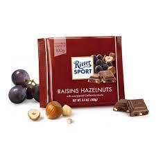 Ritter sport молочный шоколад изюм орех