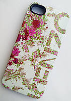 Чехол-накладка для Apple iPhone 5SE iPhone 5S iPhone 5, Kenzo, Flowers series, Синий, силиконовый,/case/кейс