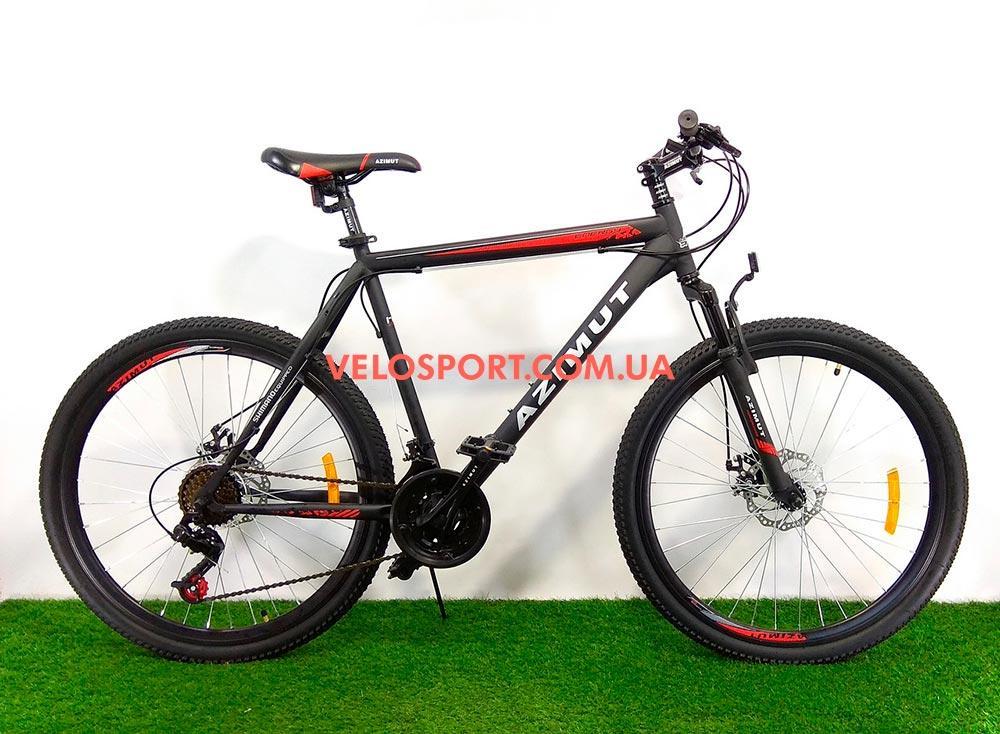 Горный велосипед Azimut Energy 26 D черно-красный