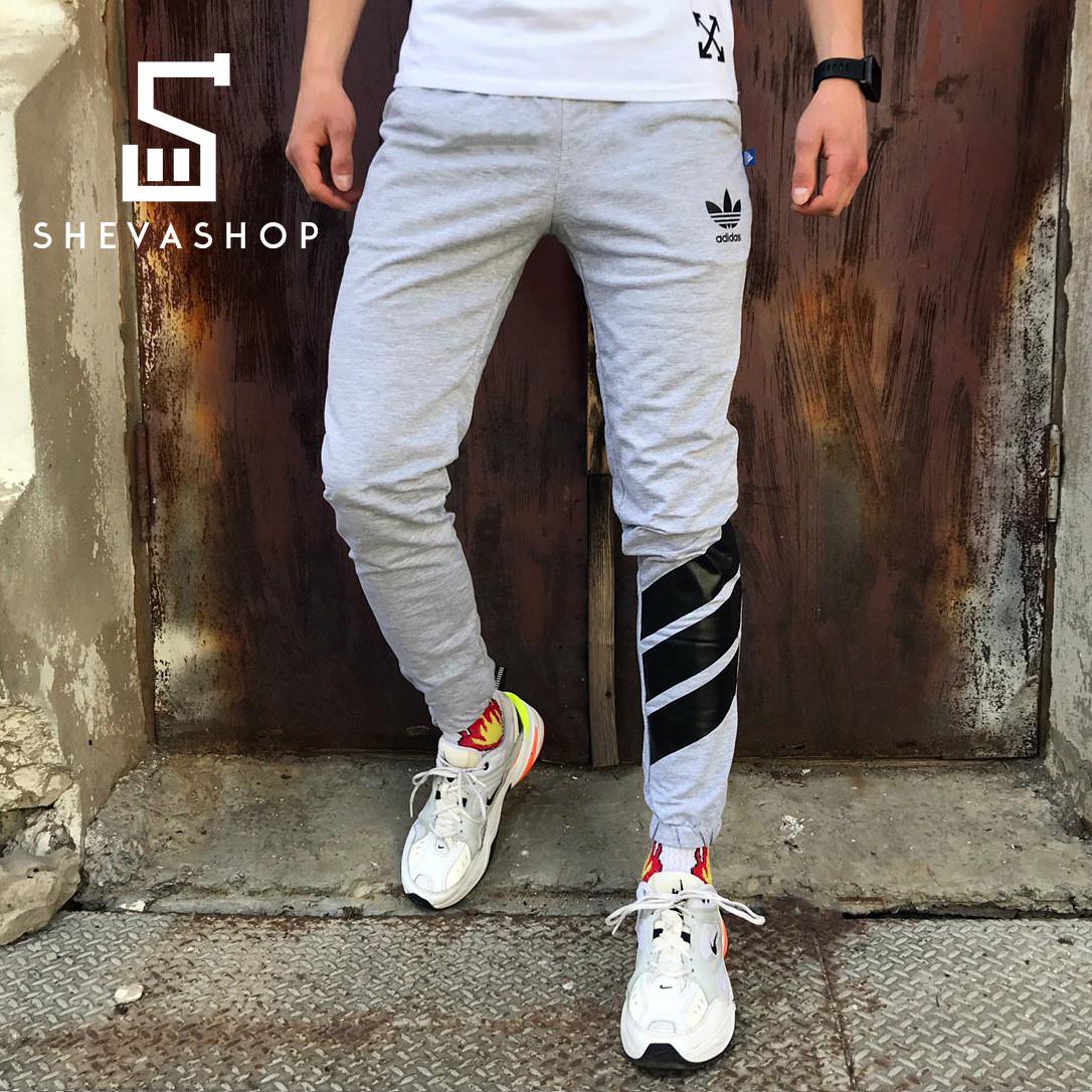 Спортивные штаны в стиле Adidas Trip серые