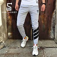 Спортивные штаны в стиле Adidas Trip серые , фото 1