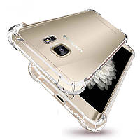 Силиконовый прозрачный чехол для Samsung Galaxy S7 Edge усиленные углы