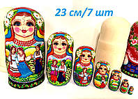 Матрешки 23 см 7 шт большие в украинском стиле, подарки из Украины ручной работы /14