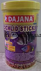 Dajana Cichlid Sticks 250 мл - корм для крупных и средних цихлидов в гранулах