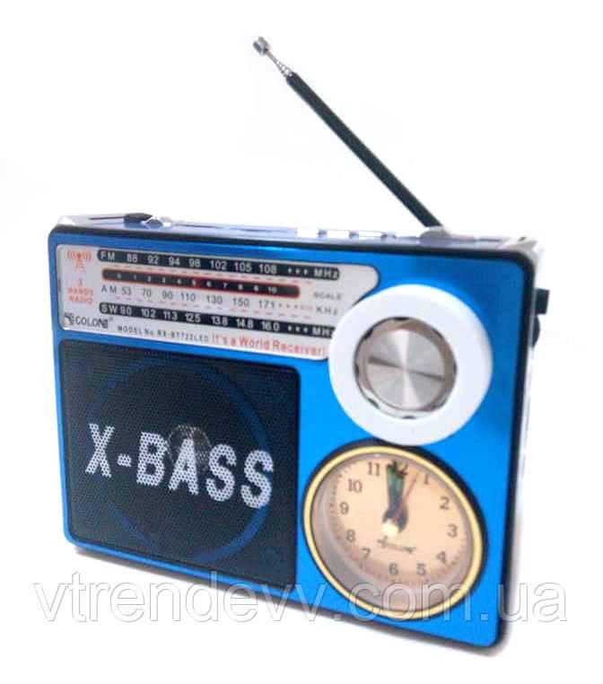 Радиоприёмник портативная колонка MP3 USB Golon RX-722LED Синий