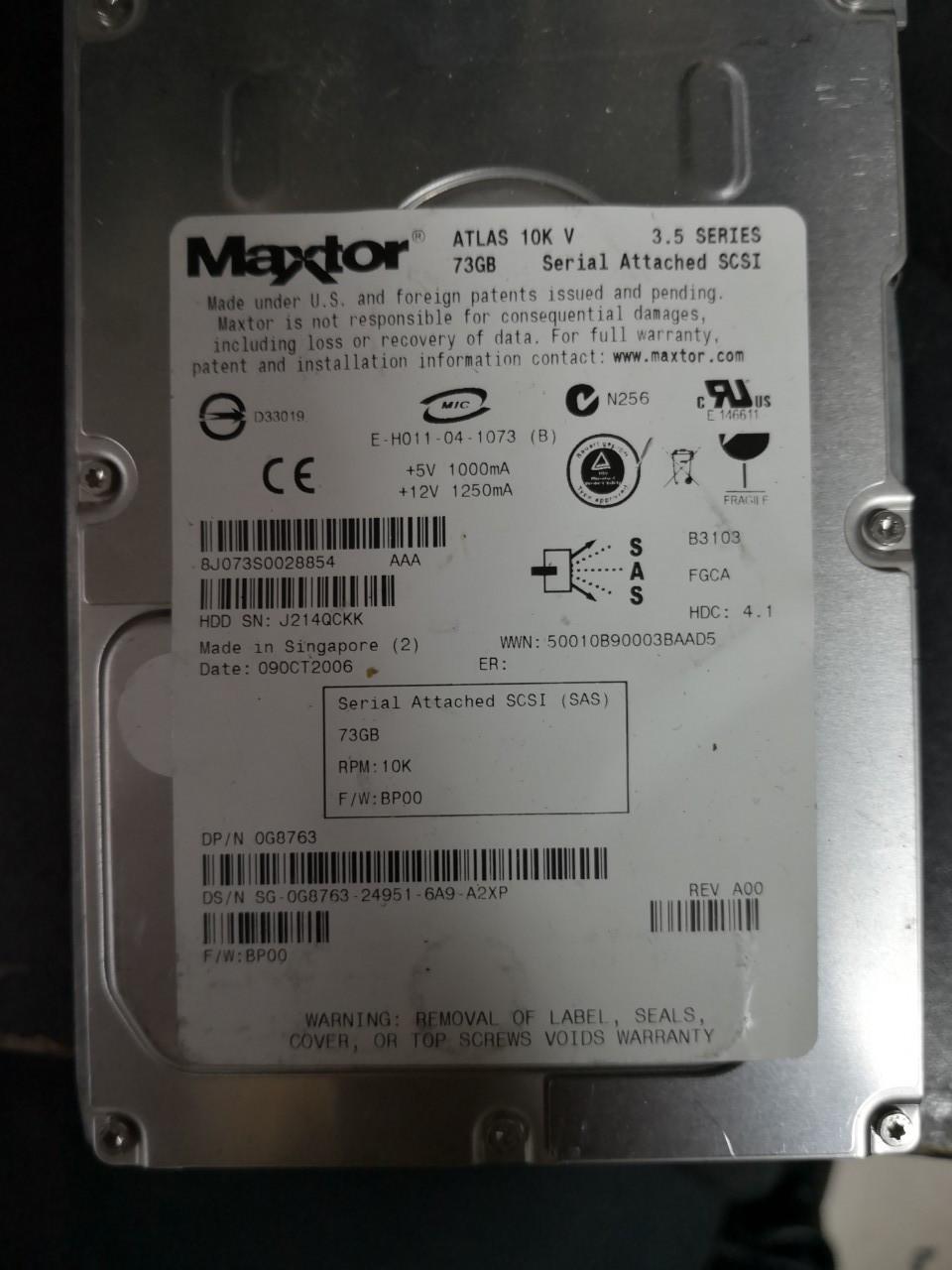 Жесткий диск Maxtor Atlas 10K V 300GB 8J300S0088856 SAS бу