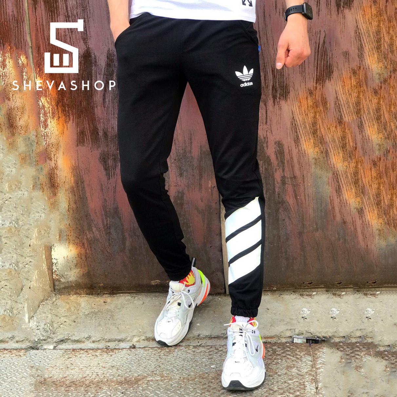Спортивные штаны в стиле Adidas Trip черные