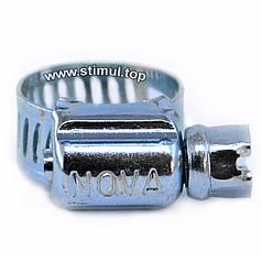 Хомут червячный Nova 12-20 мм (50 шт/уп) обжимной для шлангов