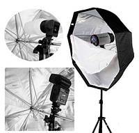 Софтбокс - рассеиватель зонтичного типа октагон 80 см (восьмиугольный), фото 1