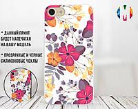Силиконовый чехол для Xiaomi Redmi 6A Flower pink (31051-3078)