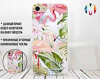 Силиконовый чехол для Xiaomi Redmi 6A Flowers and Flamingo (31051-3087)